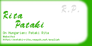 rita pataki business card